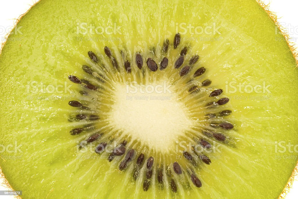Isolated kiwi fruit royalty-free stock photo
