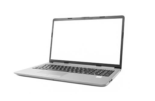 Isolated Laptop on White Background stock photo
