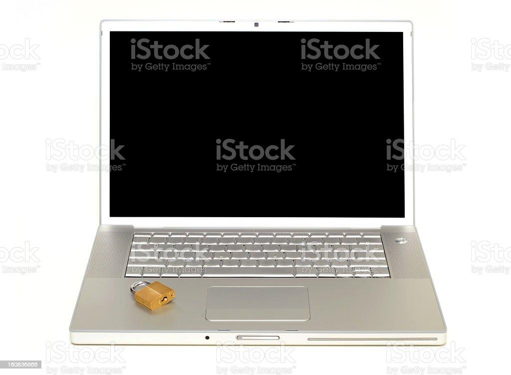 Isolated laptop royalty-free stock photo