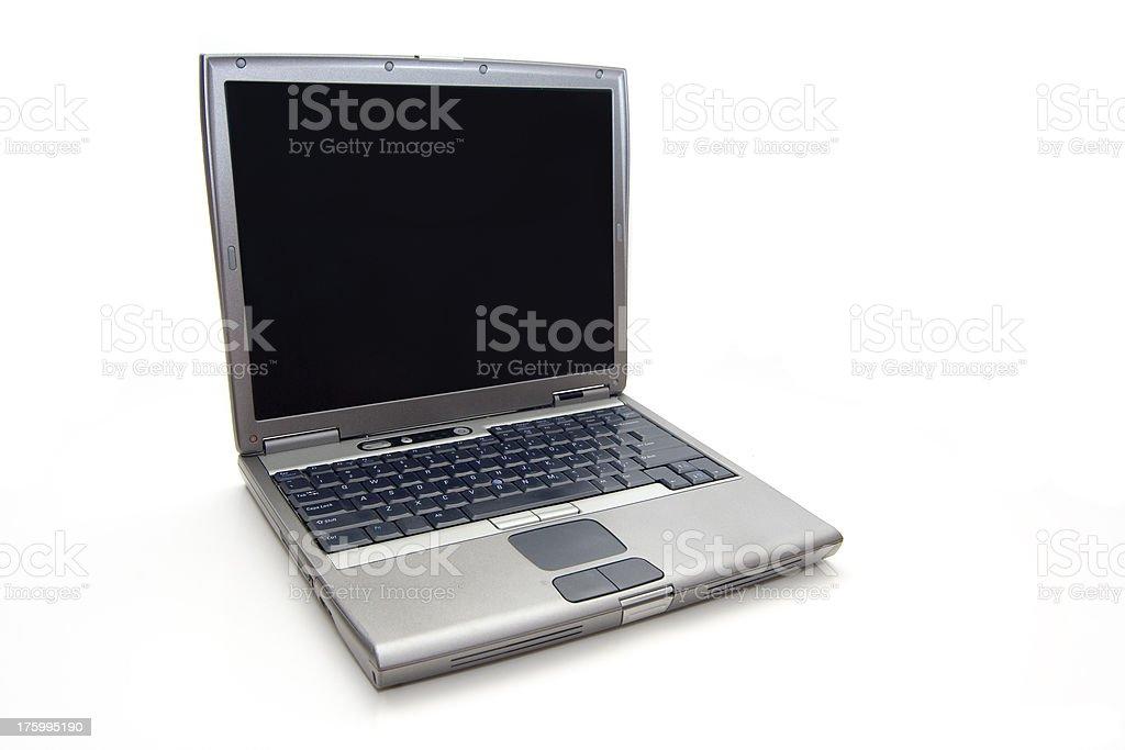 Isolated laptop stock photo