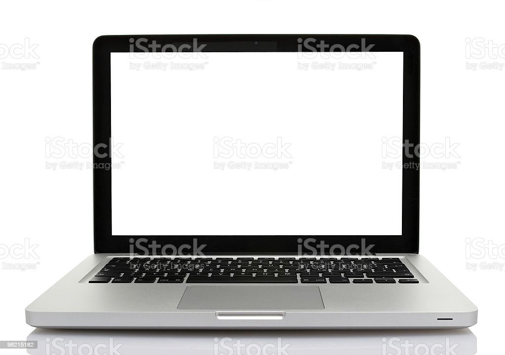 Isolated Laptop with clipping path royalty-free stock photo