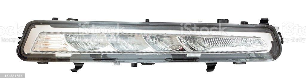 Isolated LED Daytime Running Lights stock photo