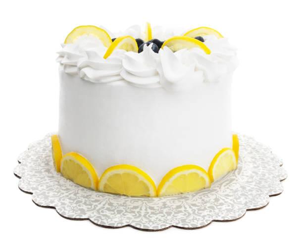 Isolated Lemon Cake stock photo