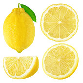 istock Isolated lemon fruits collection 606235664
