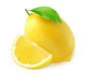 Icon set lemon, vector illustration on white background. the whole fruit and cut into pieces. citrus.Eps10.