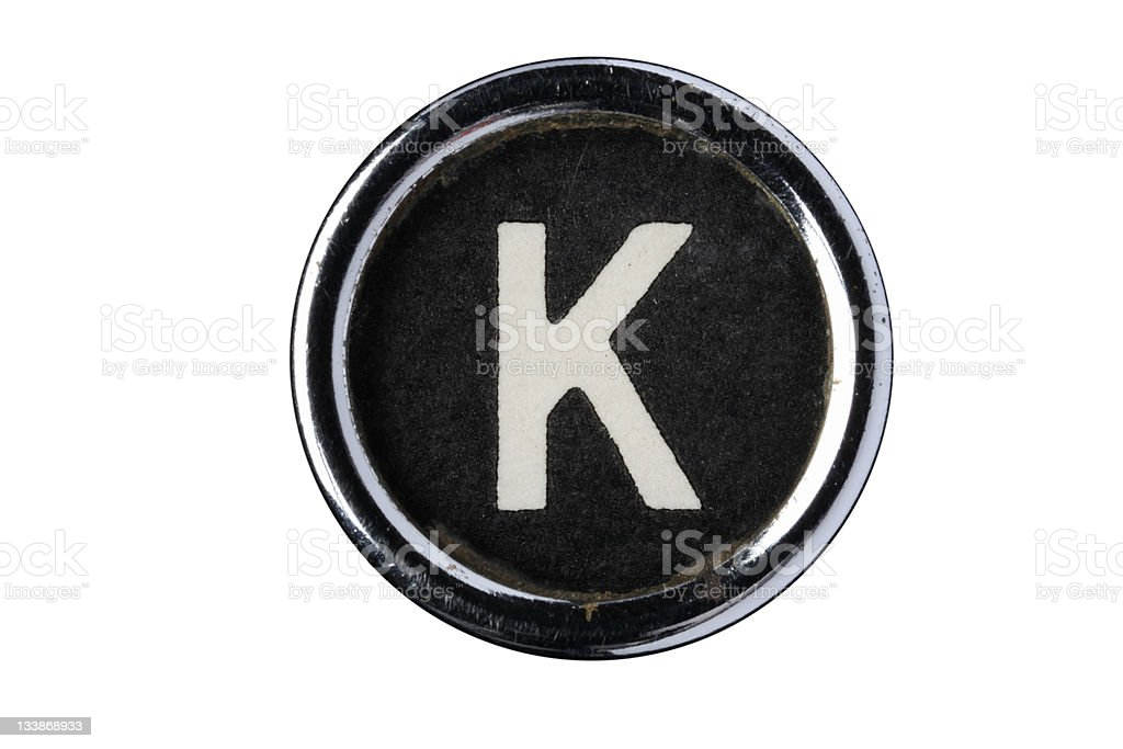 Isolated Letter K royalty-free stock photo