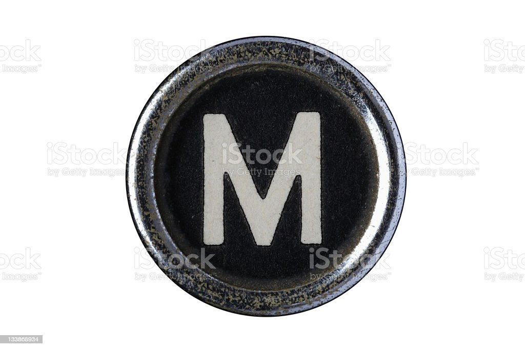 Isolated Letter M royalty-free stock photo