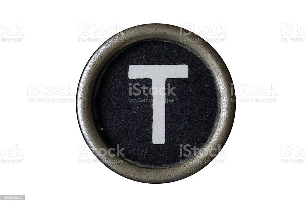 Isolated Letter T royalty-free stock photo