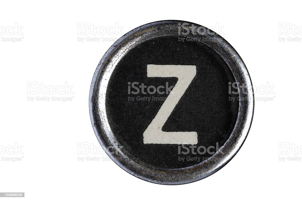 Isolated Letter Z royalty-free stock photo