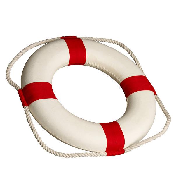 isolated life buoy stock photo