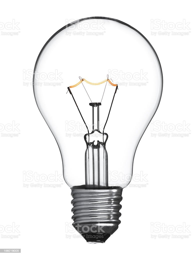 Isolated light bulb royalty-free stock photo
