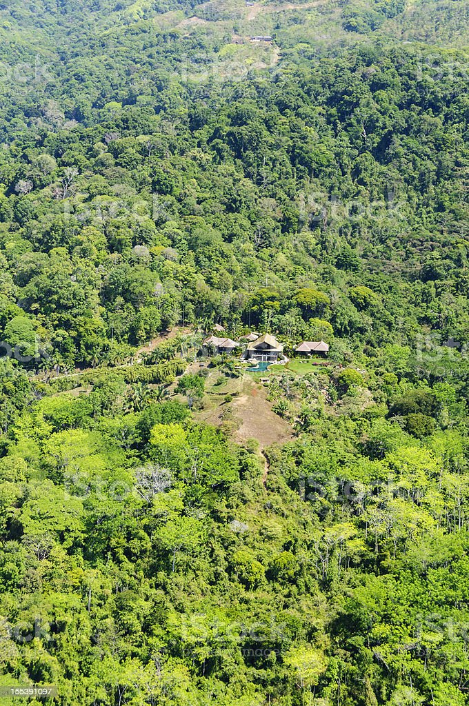 Isolated luxury resort in the mountains of Costa Rica stock photo