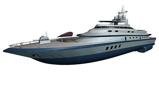 Isolierte luxury Yacht – Foto