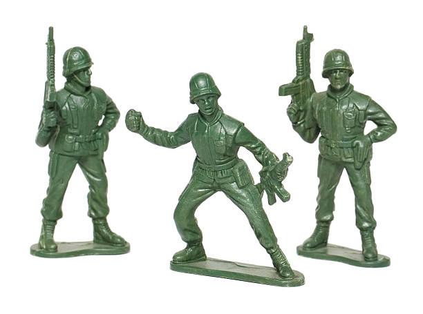Isoliert Makro Spielzeug Soldaten – Foto