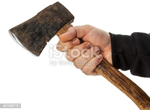 istock isolated male hand with tools 451065731