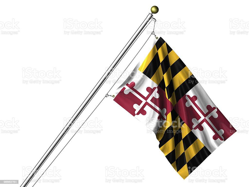 Isolated Maryland Flag royalty-free stock photo