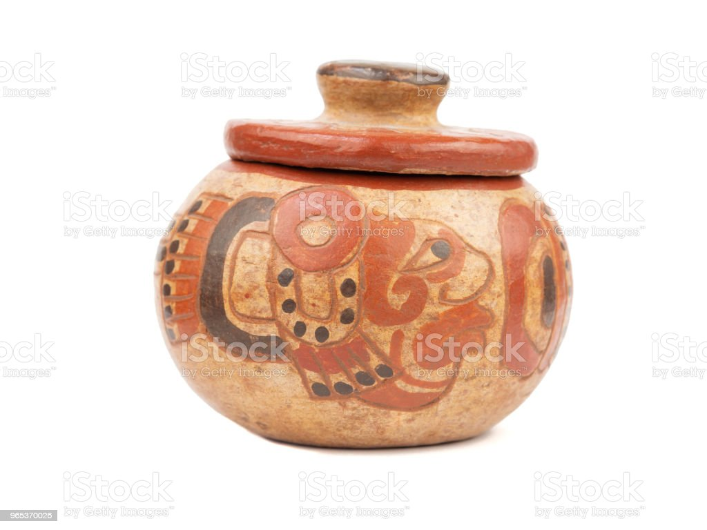 Isolated Mayan souvenir pottery zbiór zdjęć royalty-free