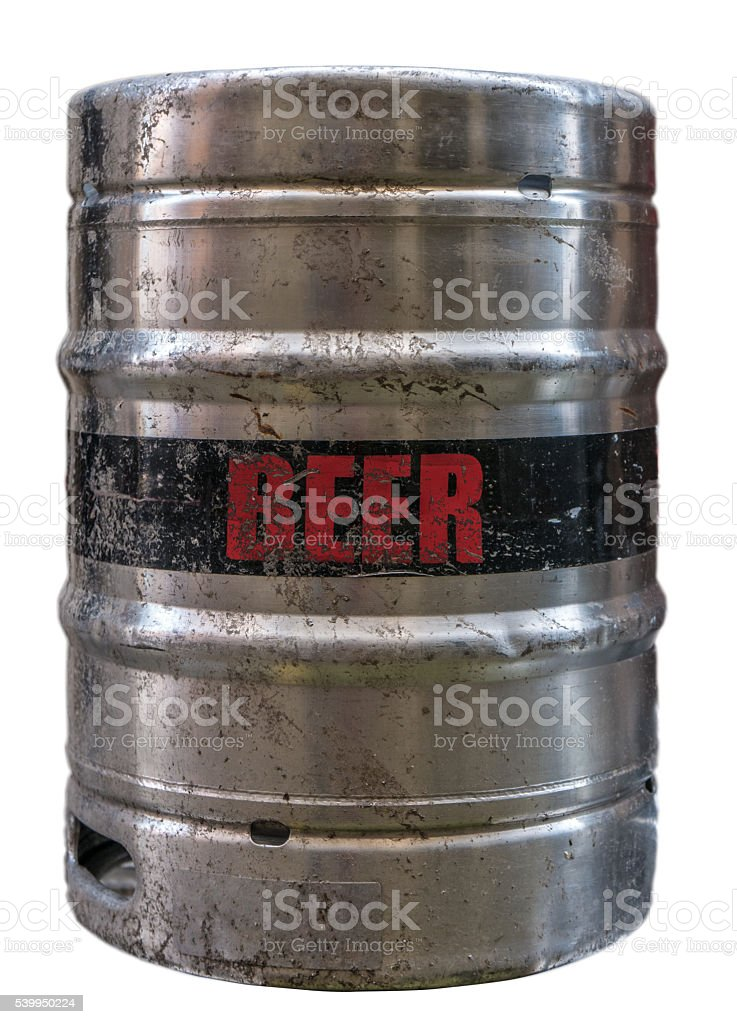 Isolated Metal Beer Keg stock photo