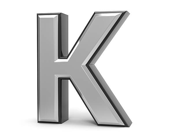 3D Isolated Metal Metallic K Letter Alphabet Logo Illustration. 3D Isolated Metal Metallic K Letter Alphabet Logo Illustration. k icon stock pictures, royalty-free photos & images