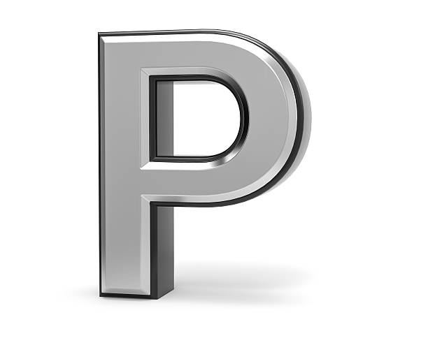 3D Isolated Metal Metallic P Letter Alphabet Logo Illustration. 3D Isolated Metal Metallic P Letter Alphabet Logo Illustration. letter p stock pictures, royalty-free photos & images