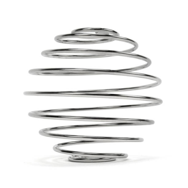 Isolated Metal Spring stock photo
