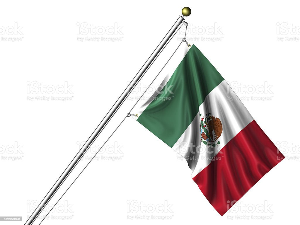 Isolated Mexican Flag royalty-free stock photo