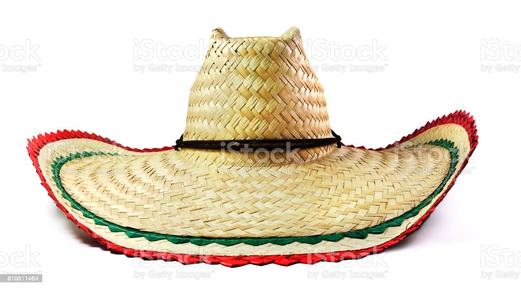 Isolated Mexican Sombrero stock photo