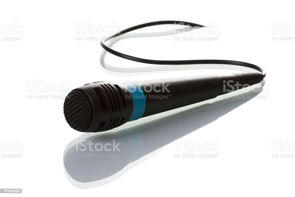 Isolated microphone royalty-free stock photo