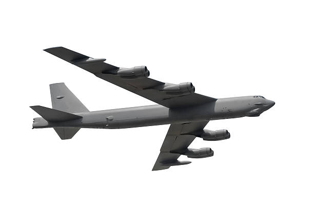 isolated military bomber stock photo