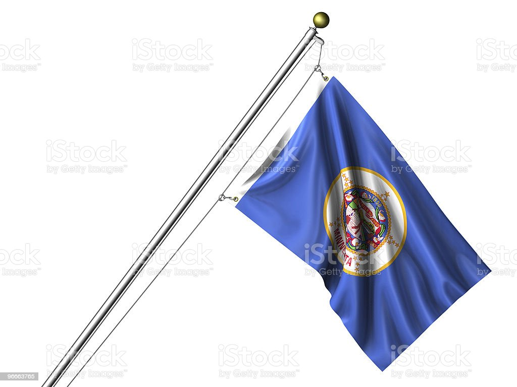 Isolated Minnesota Flag stock photo