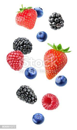 827935944 istock photo Isolated mixed berries 806861072