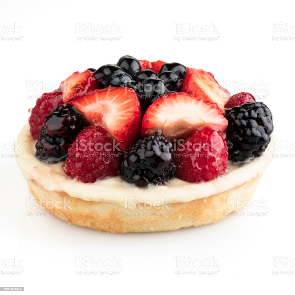 Isolated Mixed Berry Tart royalty-free stock photo