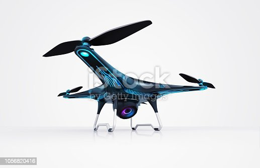 istock isolated modern camera drone on white 1056820416