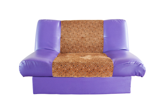 Amazing Isolated Modern Purple Leather Sofa Stock Photo More Theyellowbook Wood Chair Design Ideas Theyellowbookinfo