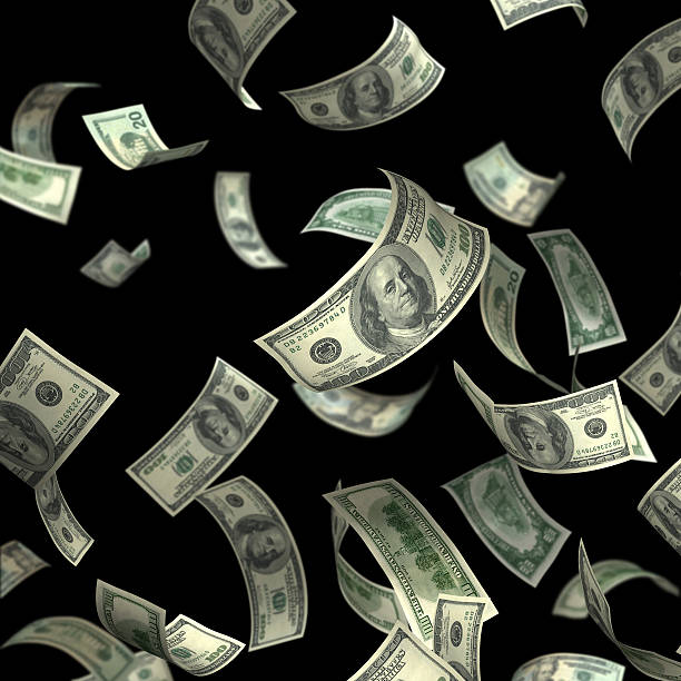 isolated money(xxl) - money black background stock photos and pictures