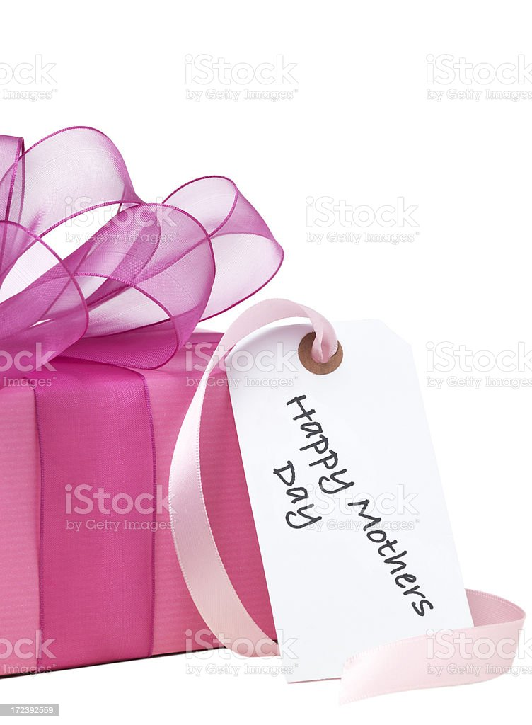 Isolated Mothers Day Present royalty-free stock photo