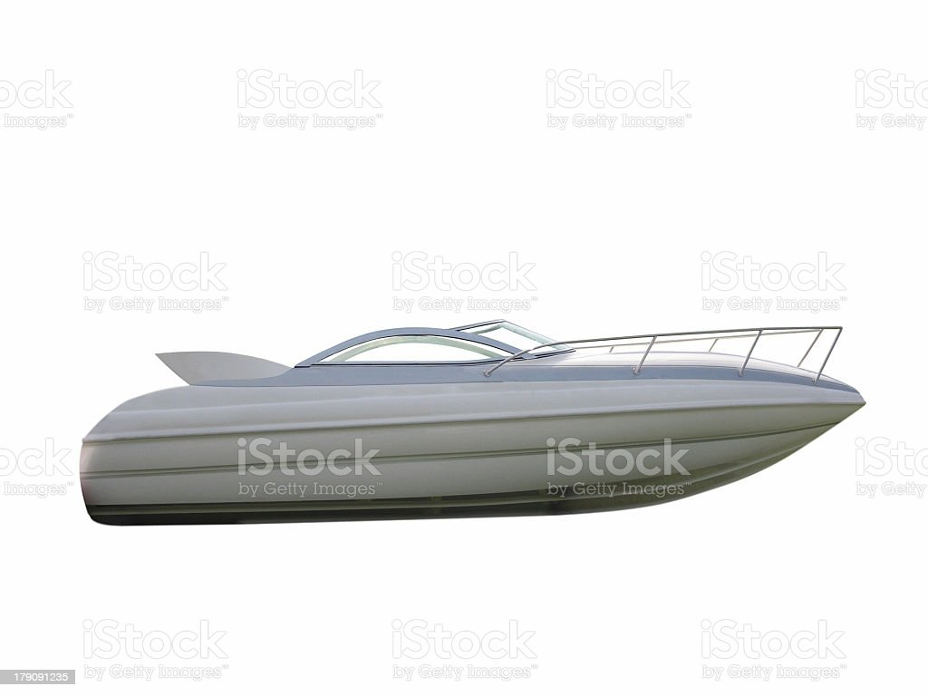 Isolated motorboat royalty-free stock photo