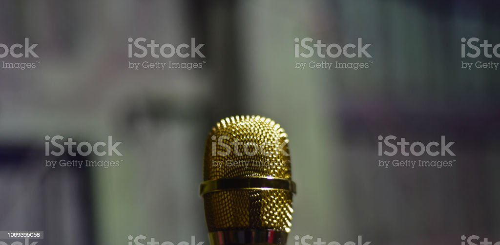 Isolated mouthpiece speaker unique blurry photo stock photo