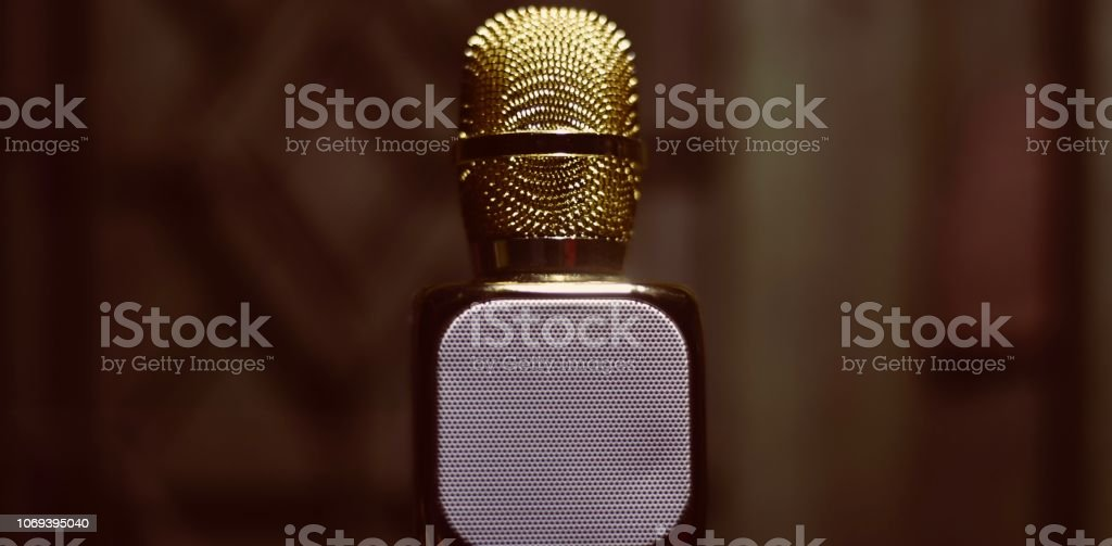 Isolated mouthpiece with built in speaker stock photo