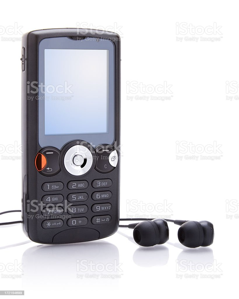 Isolated MP3 Phone (with 2 Clipping Paths) royalty-free stock photo