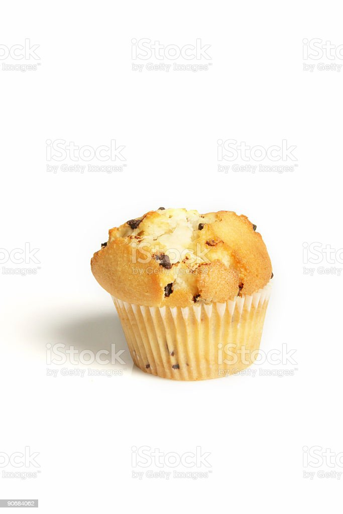 Isolated muffin royalty-free stock photo