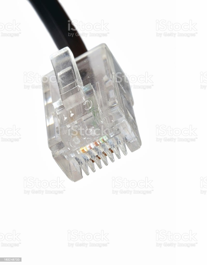 isolated network cable royalty-free stock photo