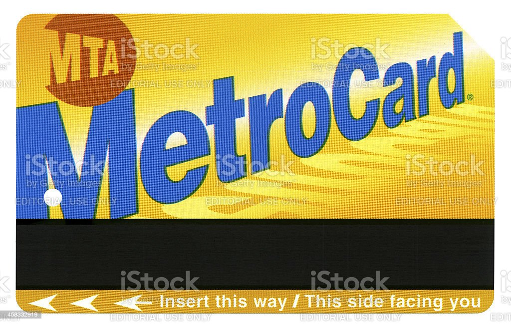 Isolated New-York MTA Metro Card XXXXL royalty-free stock photo