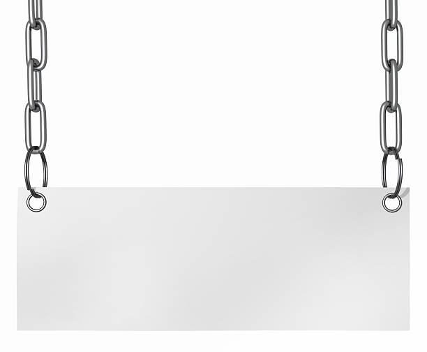 Isolated note on chain stock photo