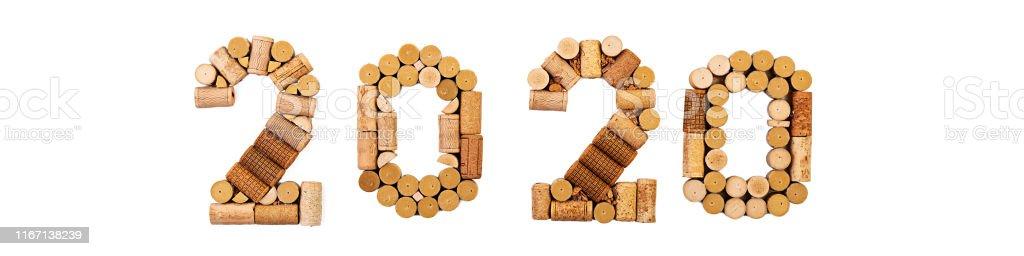 Calendario Imbottigliamento 2020.Isolated Number Made Of Wine Corks New Year 2020 Isolated On