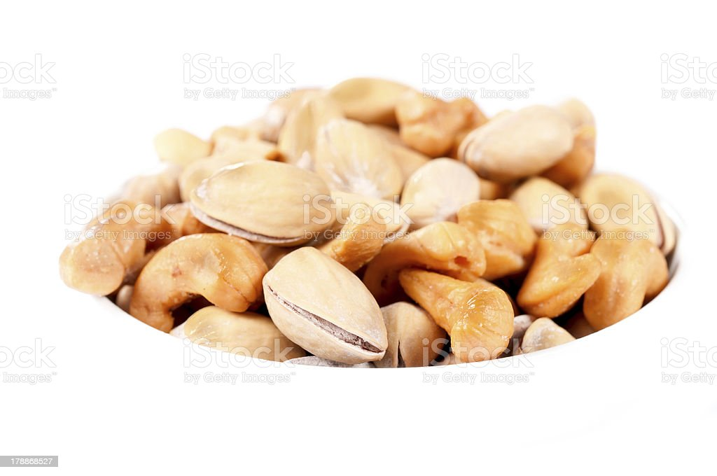 Isolated nuts mix stock photo