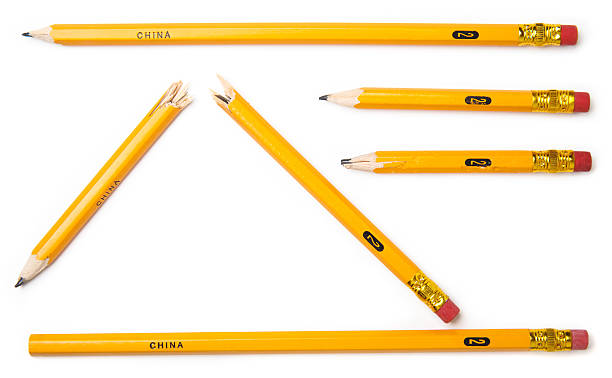 Isolated Objects - Pencils stock photo