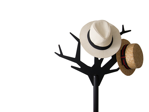 isolated of hanging hat
