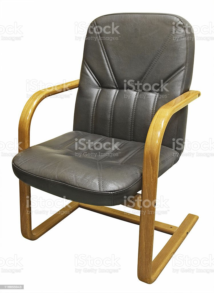 Isolated office chair on white background royalty-free stock photo