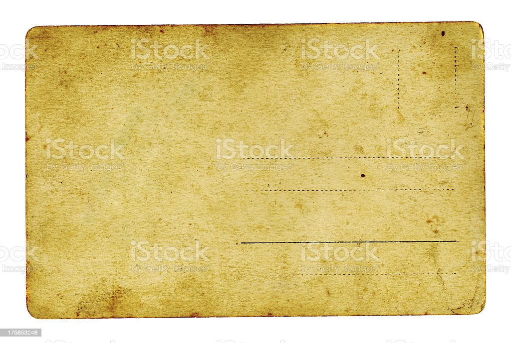 isolated old and grungy postcard background royalty-free stock photo